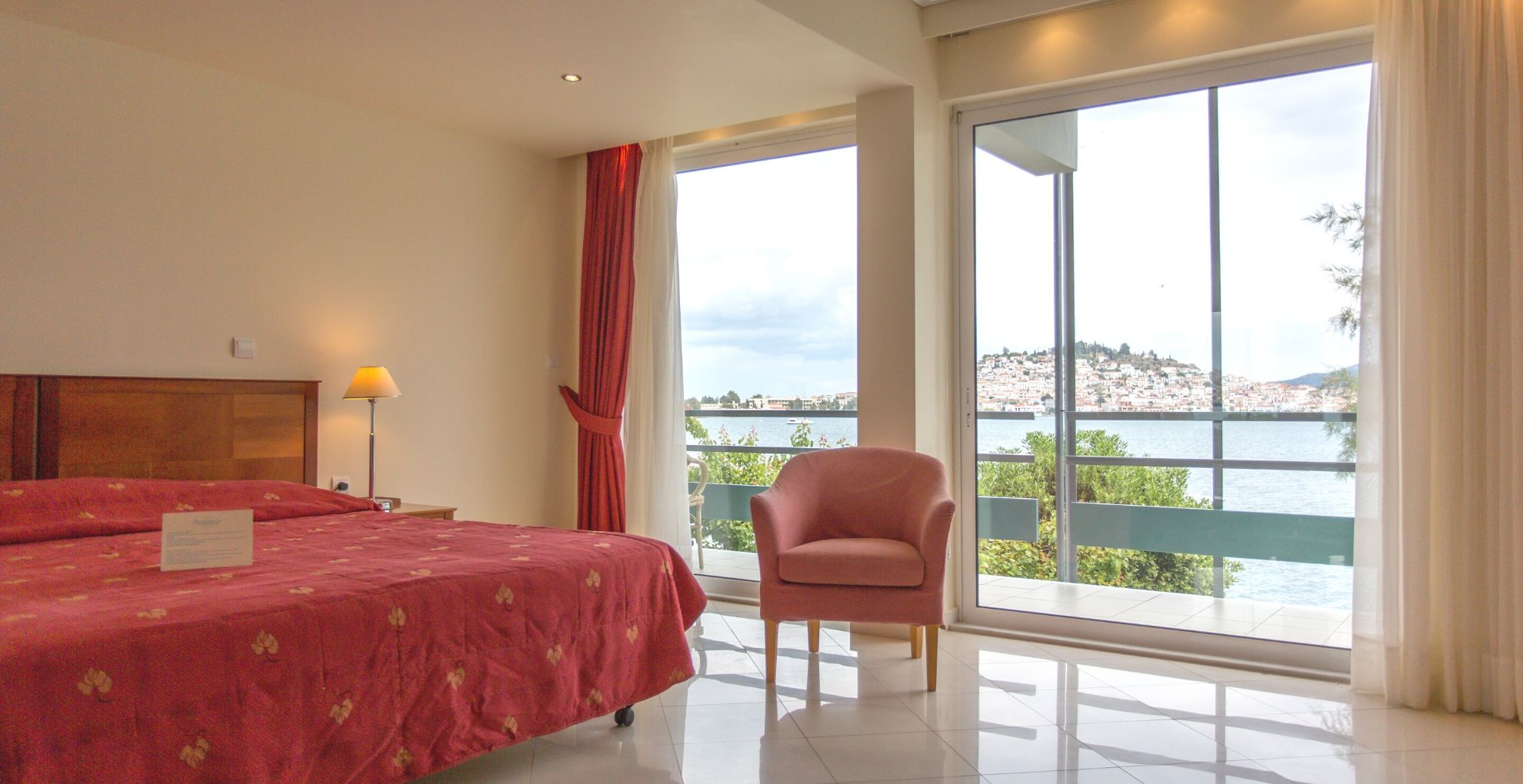 MASTER SUITE WITH SEA AND POROS TOWN VIEW